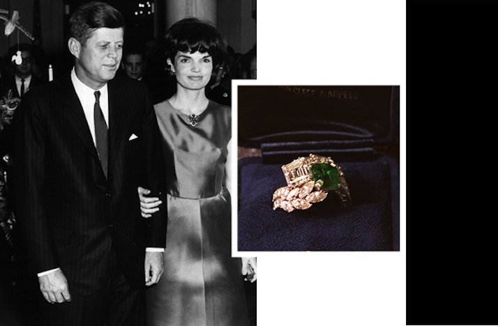 famous engaged couples engagement rings Jackie O
