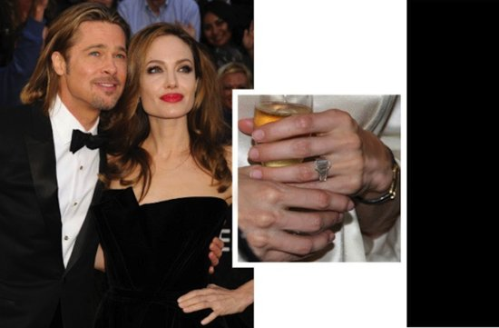 famous engaged couples engagement rings angelina jolie