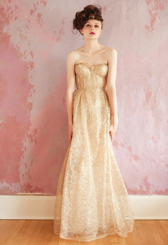gold wedding dress strapless 2013 bridal gowns sarah seven