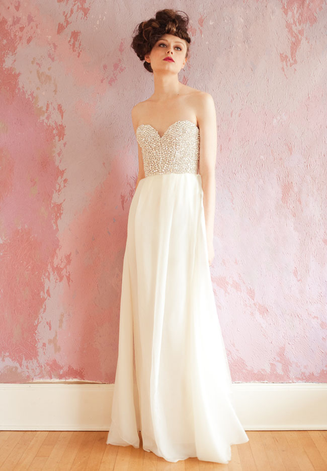 beaded corset 2013 wedding dress Sarah Seven bridal gown