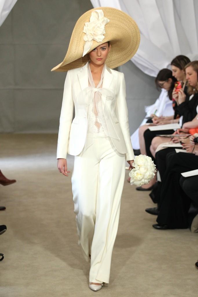 2013 bridal gowns Carolina Herrera wedding dress ivory wedding suit