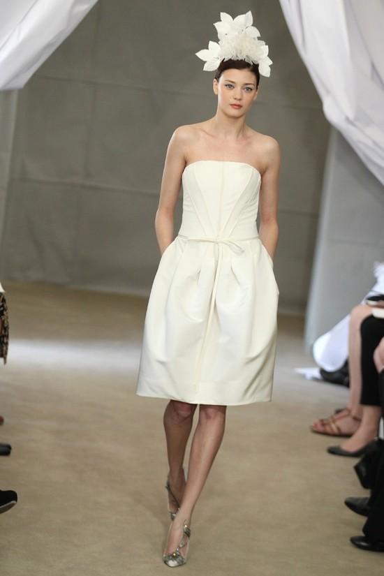 Spring 2013 bridal gowns Carolina Herrera wedding dress simple LWD