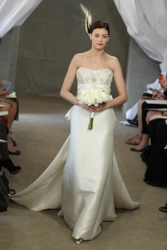 Spring 2013 bridal gowns Carolina Herrera wedding dress elegant beaded bodice