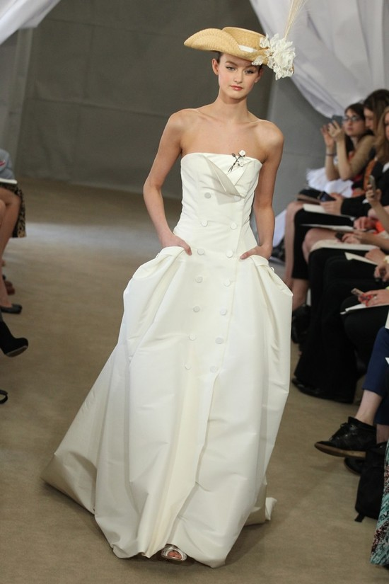 Spring 2013 bridal gowns Carolina Herrera wedding dress sophisticated sailor