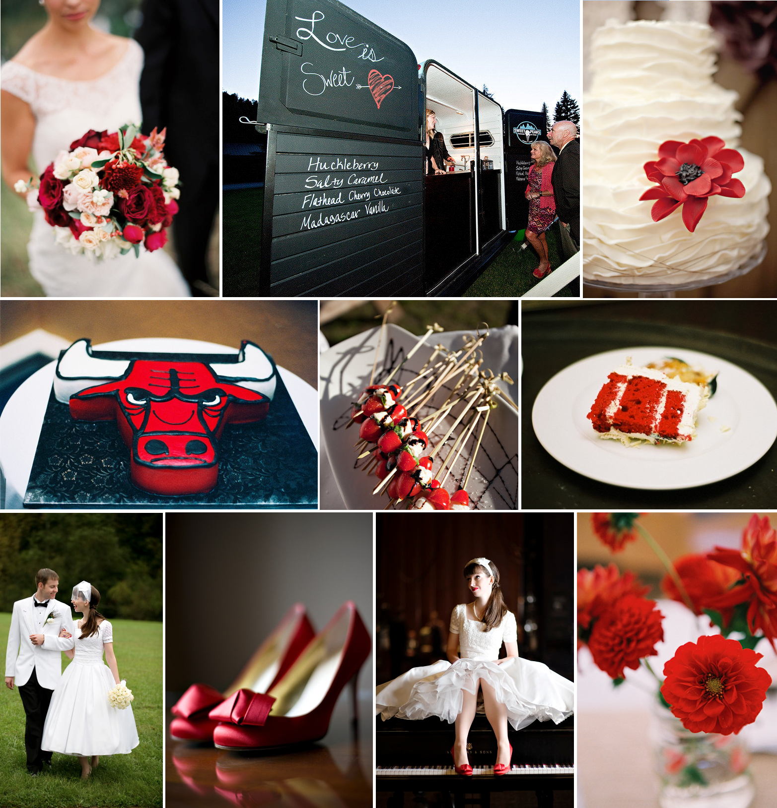 Wedding Red And White Theme: Sports-themed Wedding Ideas- Chicago Bulls Inspired Red