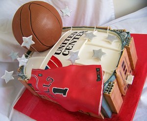 photo of Red Hot Chicago Bulls Wedding Inspiration