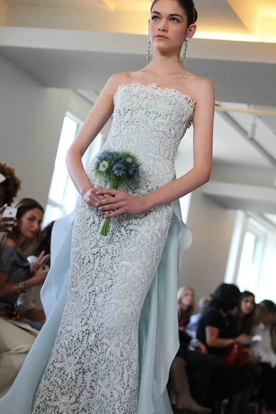 spring 2013 wedding dress Oscar de la Renta bridal gowns 2