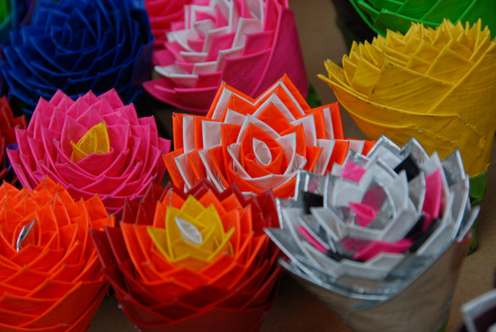 bright neon duct tape wedding flowers