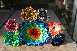 photo of Colorful duct tape wedding flowers