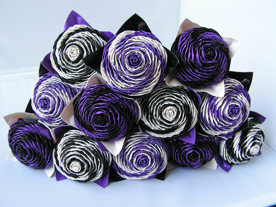 purple black wedding flower alternatives duct tape roses