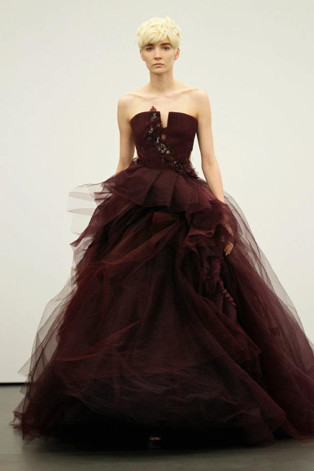 photo of Vera Wang Sees Red for Spring 2013 Brides