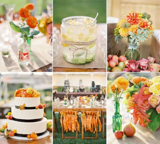 citrus cinnamon wedding inspiration