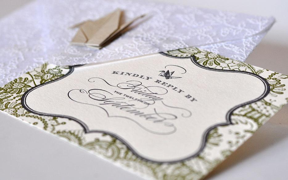 Unforgettable Wedding Invitations New York Theme Letterpress 2