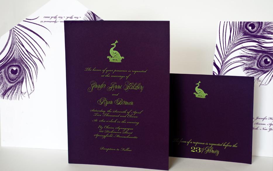 lime green wedding invitations