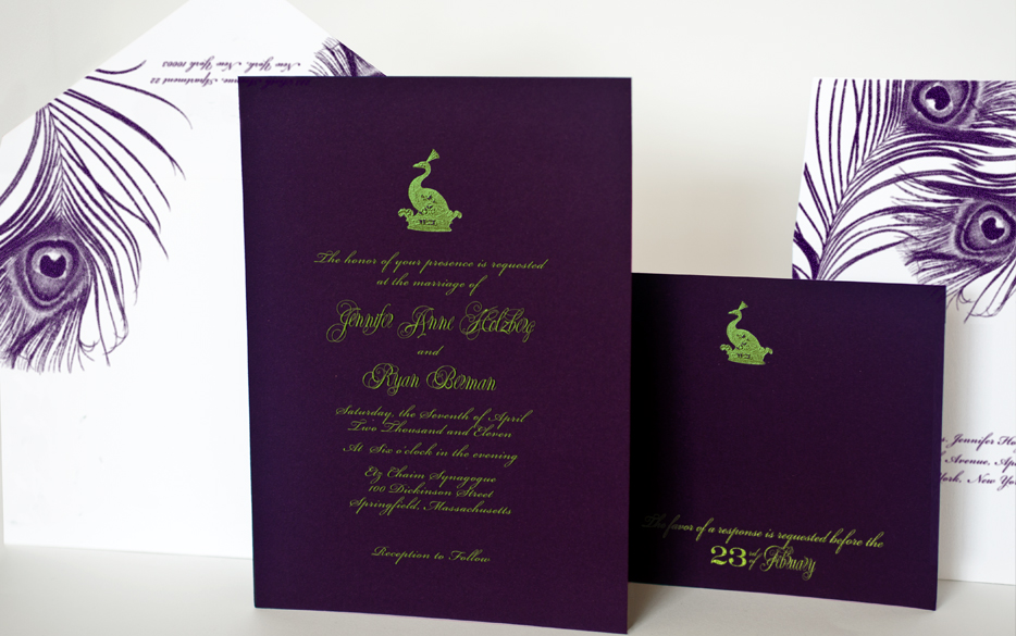 Purple And Lime Green Wedding Invitations | Info