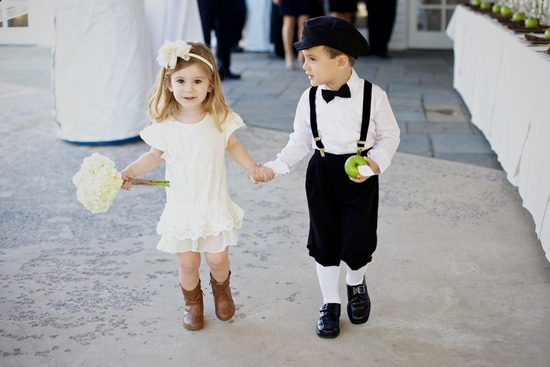cutest flower girl ring bearer couple outdoor weddings