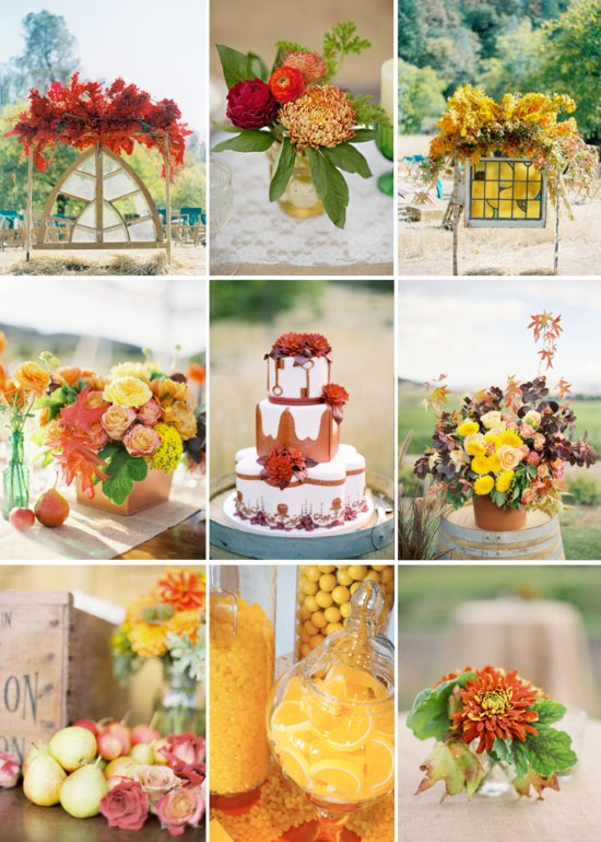 Cinnamon + Citrus: Signature drink orange yellow wedding reception color palettes