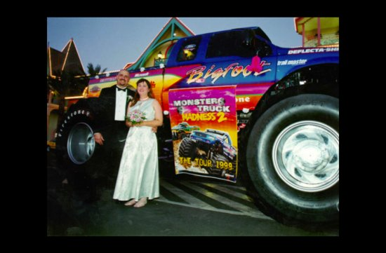 photo of wacky wedding photos weird crazy weddings friday the 13th monster truck
