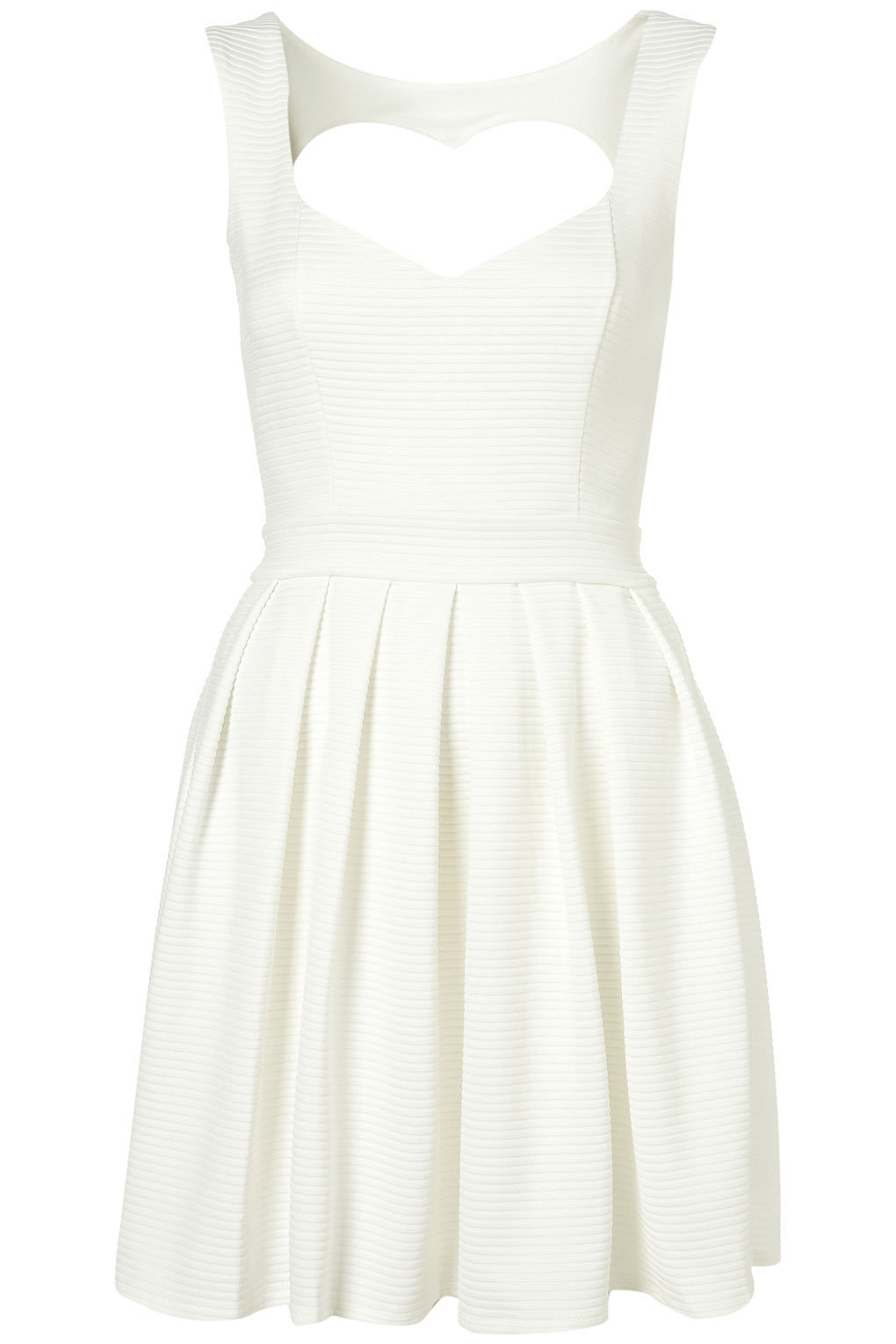ribbed ivory LWD wedding reception frock topshop