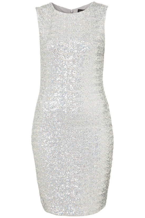 sparkly silver little white wedding reception dress high neck