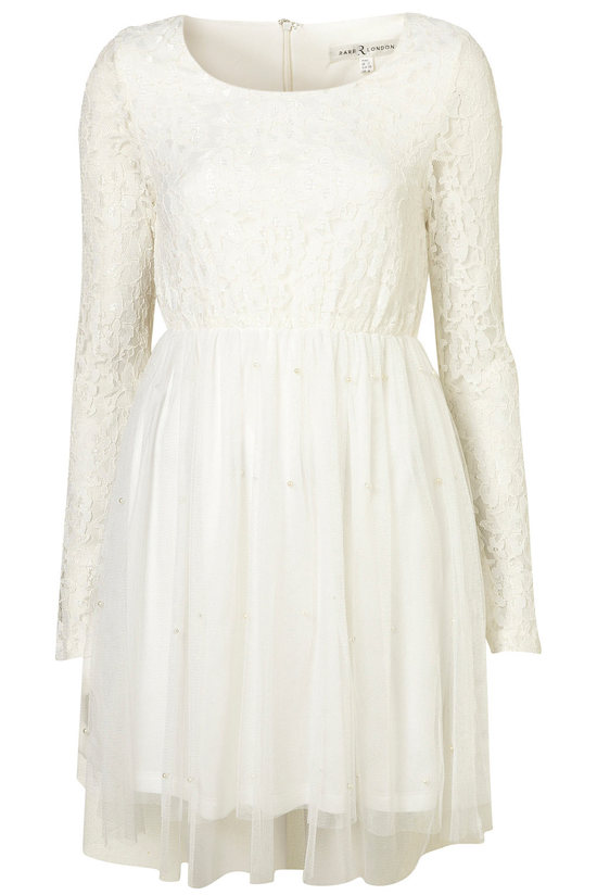bohemian bride LWD wedding reception dress lace sleeves