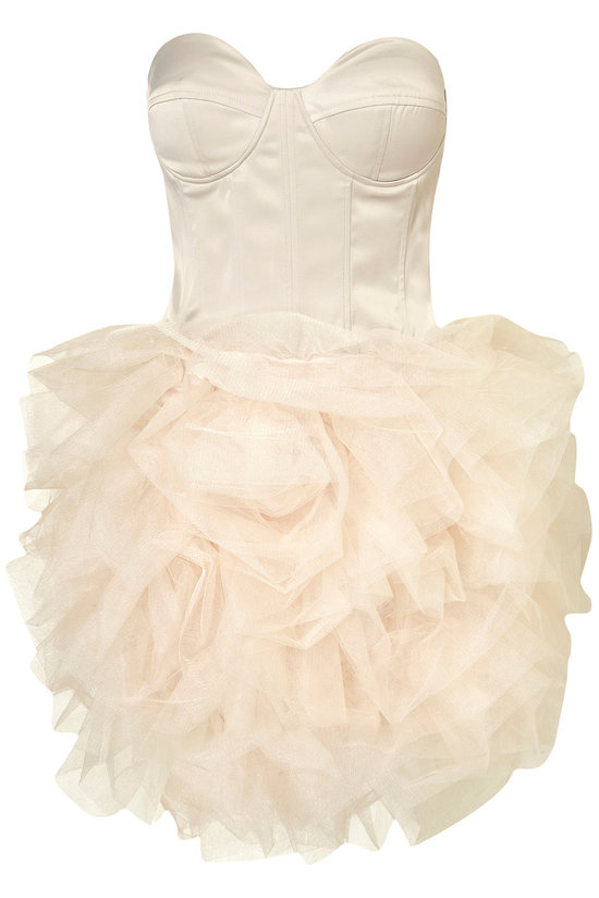 ballerina bride wedding reception dress ivory corset bodice