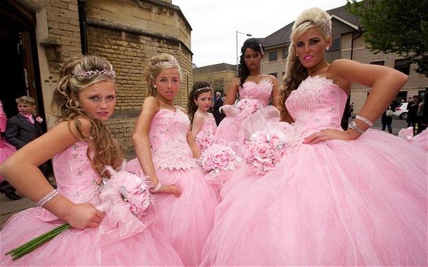 gypsy weddings pink ballgowns