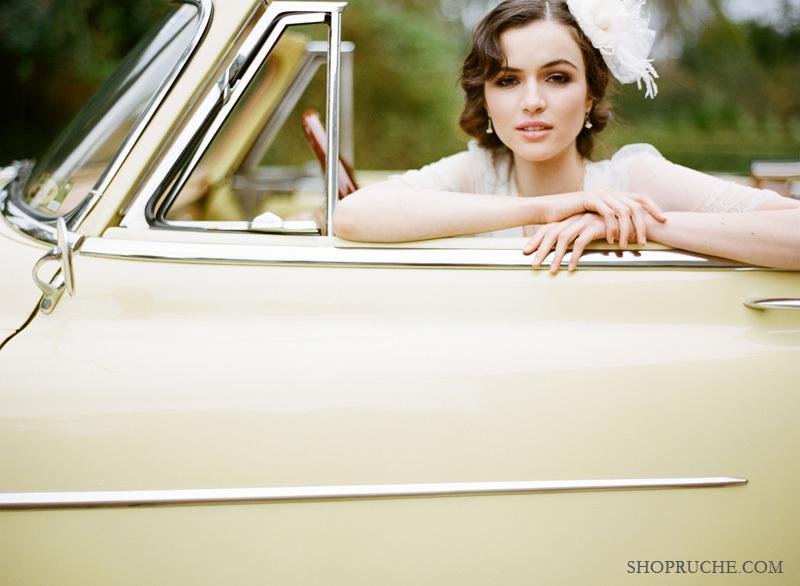 Romantic-bridal-hair-flower-ruche-wedding-collection.full