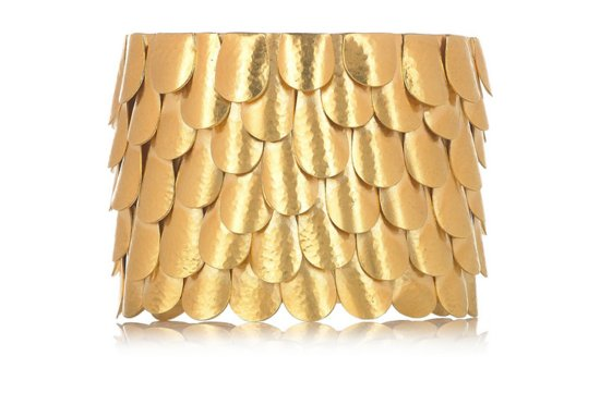 photo of Gold-plated feather cuff
