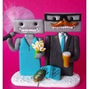 Robot-wedding-cake-topper-customized-for-bride-and-groom.square