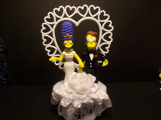 simpsons wedding cake topper