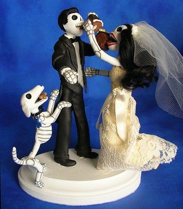 of the dead wedding cake toppers offbeat wedding ideas