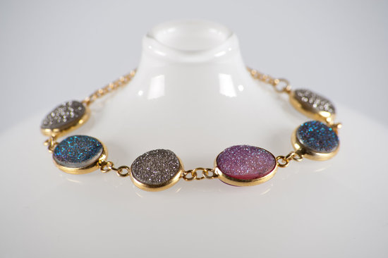 photo of Elizabeth Perry Collections: Drusy Quartz bridal bracelet
