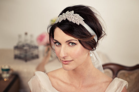 wedding hair accessories handmade bridal headband crystal embellished