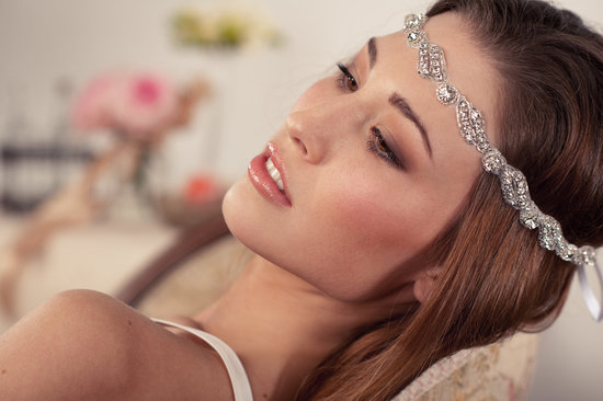 bohemian bride wedding hair accessories bridal head wrap Grecian inspired