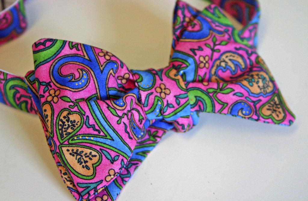 bold paisley bow tie for groom