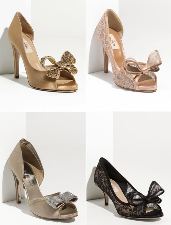 2012 wedding trends bridal shoes bows 1