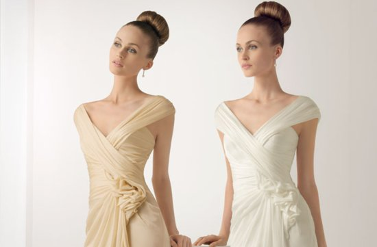 2012 wedding dresses soft by rosa clara bridal gown draped v neck floral embellished