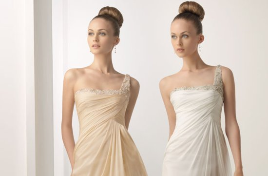2012 wedding dresses soft by rosa clara bridal gown draped one shoulder beading