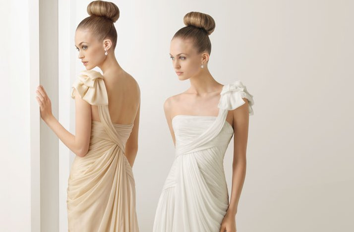 2012 wedding dresses soft by rosa clara bridal gown draped one shoulder detail