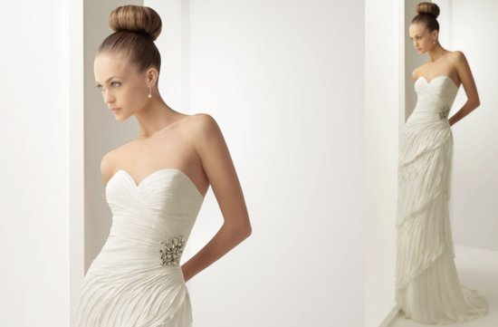 2012 wedding dresses soft by rosa clara bridal gown strapless sweetheart feather look on skirt