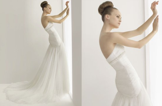2012 wedding dresses soft by rosa clara bridal gown drop waist a line