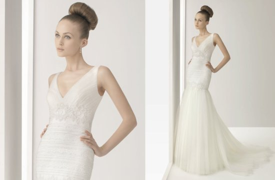v neck wedding dress 2012 bridal gowns rosa clara soft
