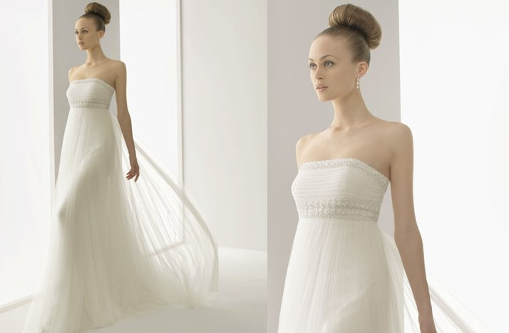 romantic lace wedding dress 2012 bridal gowns soft by rosa clara strapless sheer draping embellished