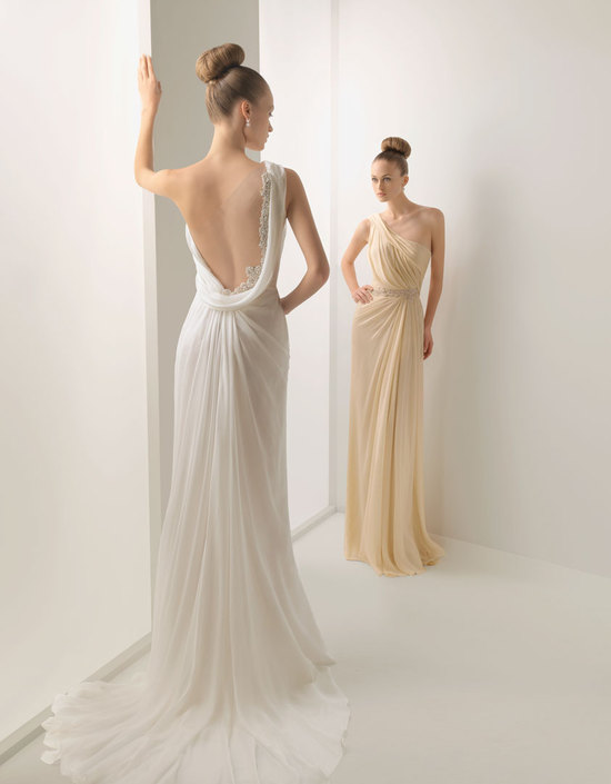 photo of 2012 wedding dress open back sheer