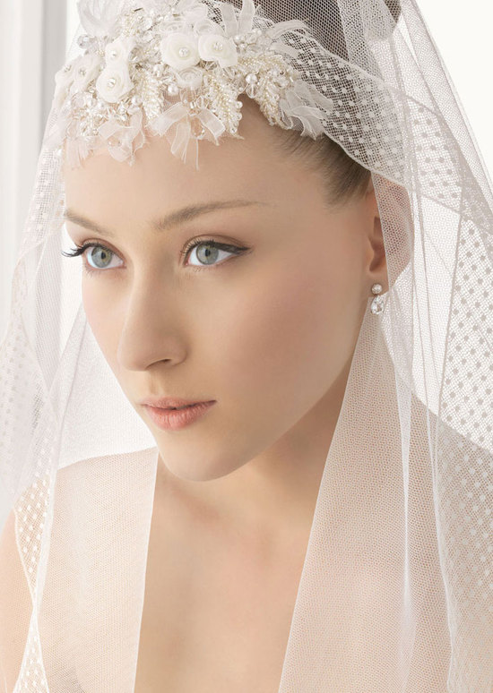 romantic bridal veils by rosa clara polka dot fabric embellished
