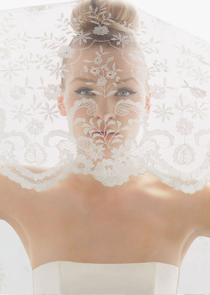 romantic bridal veils by rosa clara romantic lace scalloped edge