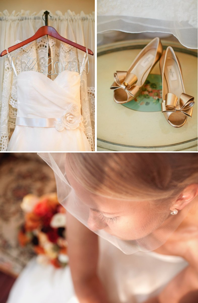 bridal beauty outdoor nashville bride sweetheart wedding dress gold wedding shoes