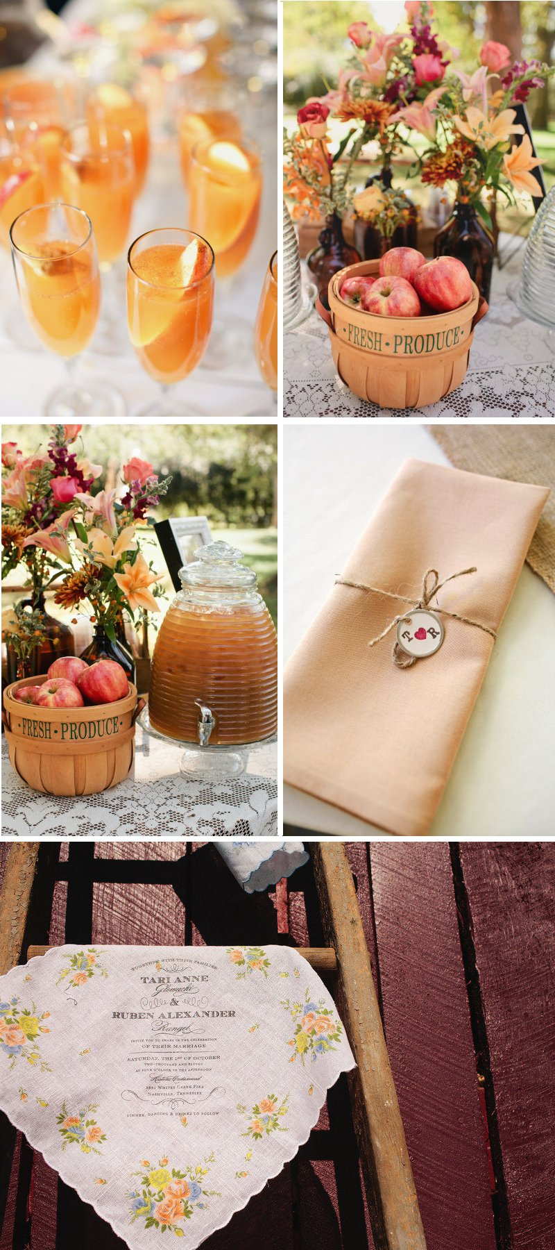 country western themed wedding signature drinks rustic centerpieces
