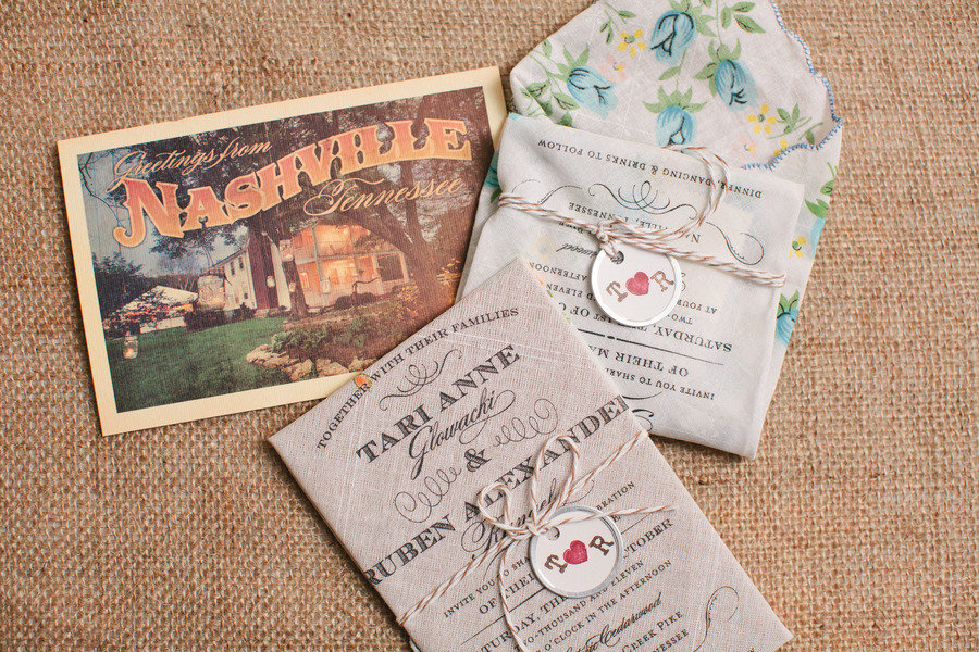 Outdoor Wedding Lace Decor Vintage Inspired Invitations
